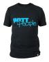 T-Shirt Schwarz/Hellblau