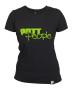 Girlie T-Shirt Schwarz/Apfelgrün