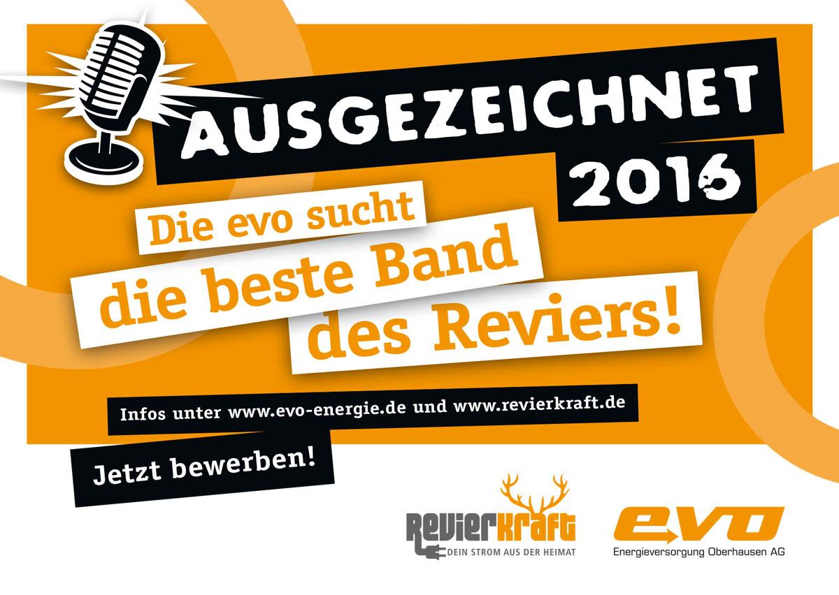 Ausgezeichnet 2016 – evo sucht beste Band des Reviers!