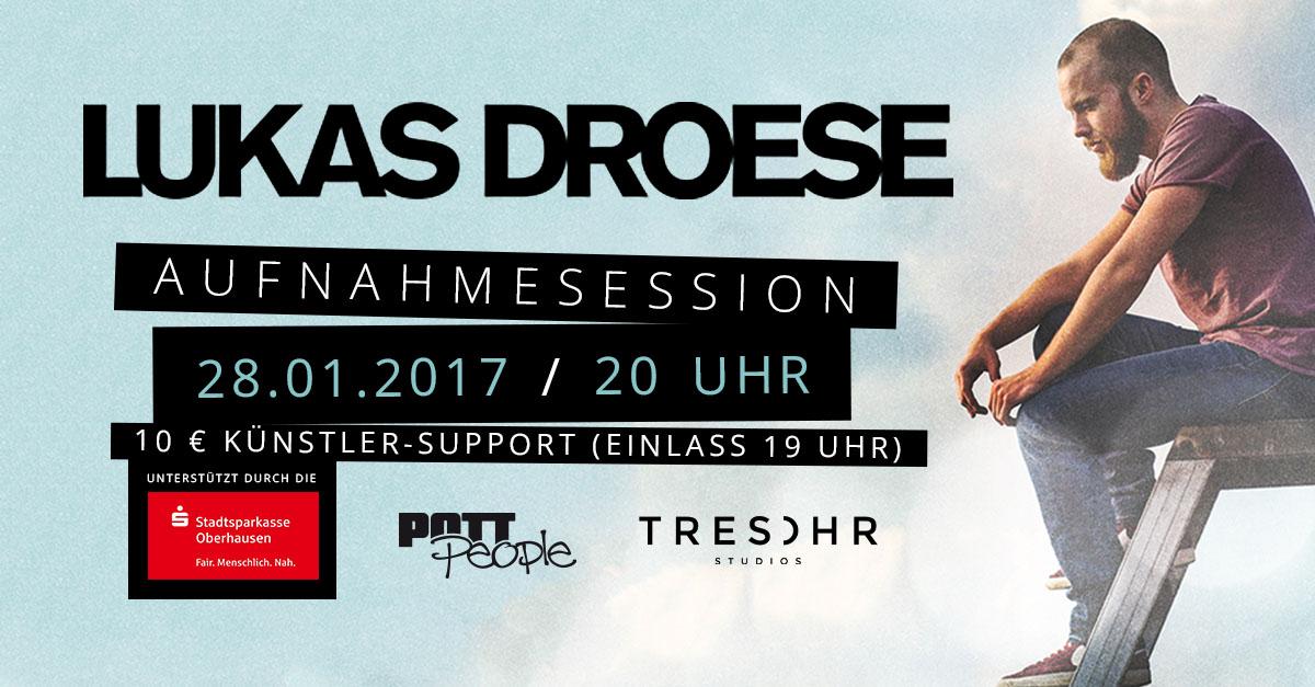 Jetzt anmelden! Live-Aufnahmesession mit Lukas Droese