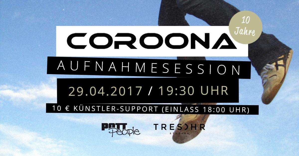 Aufnahmesession mit COROONA