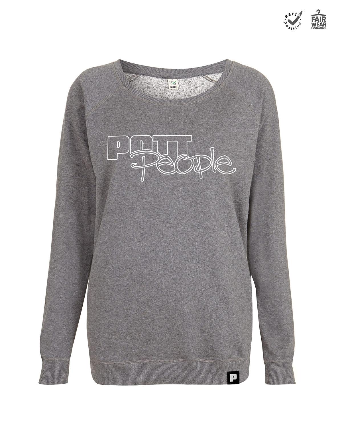 Sweatshirt Damen <br>Grau/Weiss