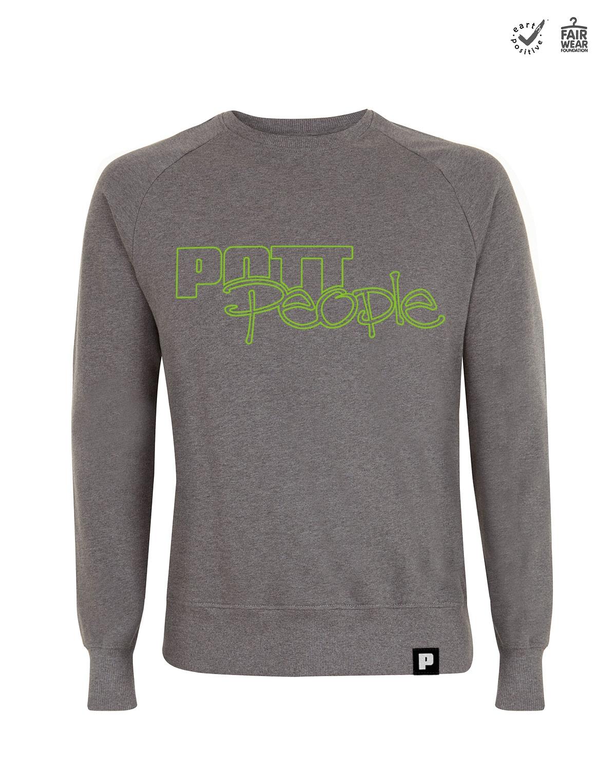 Sweatshirt Herren Dunkelgrau/Grün